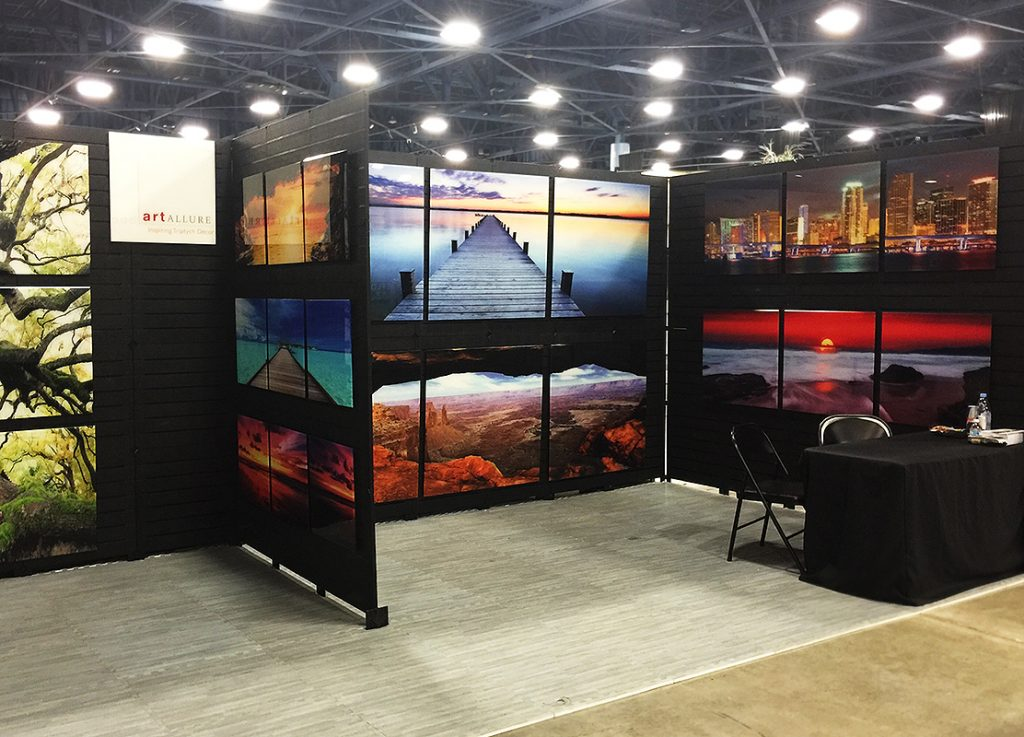 Portable Art Exhibition Stands : Slatwall displays give the impression your business deserves